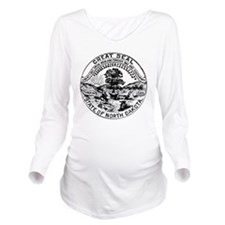 Vintage North Dakota Long Sleeve Maternity T-Shirt