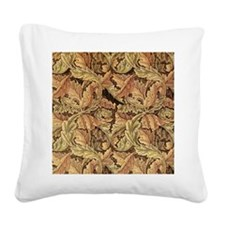 Art Nouveau Autumn Leaves Square Canvas Pillow