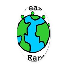 PEAS ON EARTH Oval Car Magnet