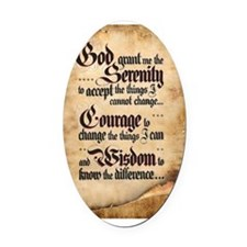 serenity-scroll Oval Car Magnet