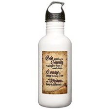 serenity-scroll Water Bottle