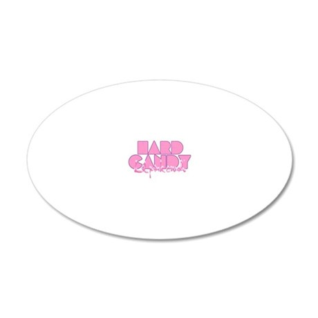 Lil pink crush hard candy 20x12 Oval Wall Decal