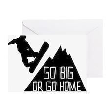 Snowboarder Go Big Greeting Card