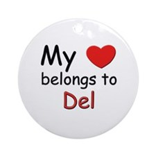 My heart belongs to del Ornament (Round)