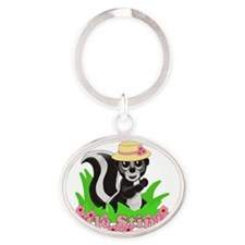 Girl Little Stinker Oval Keychain
