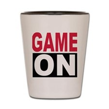 game_on_2c_square Shot Glass
