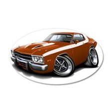 1973-74 Roadrunner Bronze-Wh Wall Decal