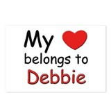 My heart belongs to debbie Postcards (Package of 8