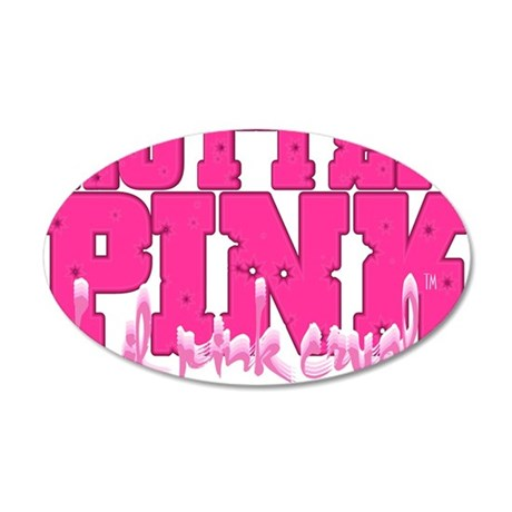 Lil pink crush hotter pink 2 35x21 Oval Wall Decal