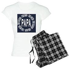 Papa round navy white copy Pajamas