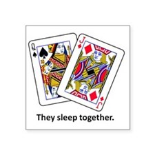 "sleeptogether Square Sticker 3"" x 3"""