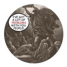 moses_card Round Car Magnet