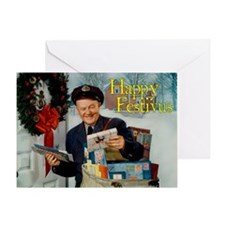 postman_festivus_card Greeting Card