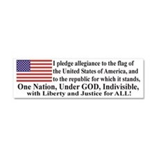 Pledge of allegiance Car Magnet 10 x 3