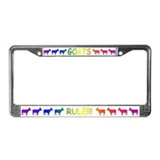 Goats Rule License Plate Frame