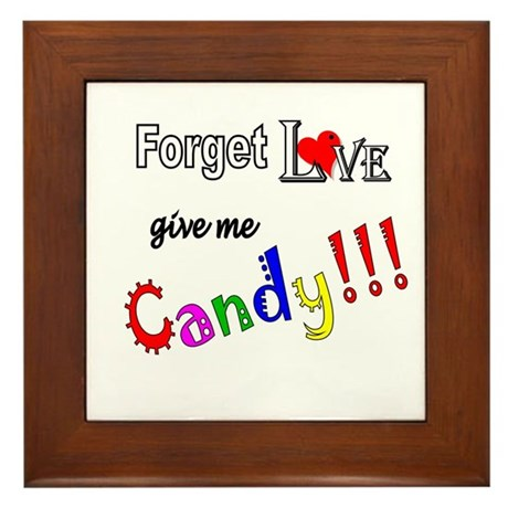 Give Me Candy Framed Tile