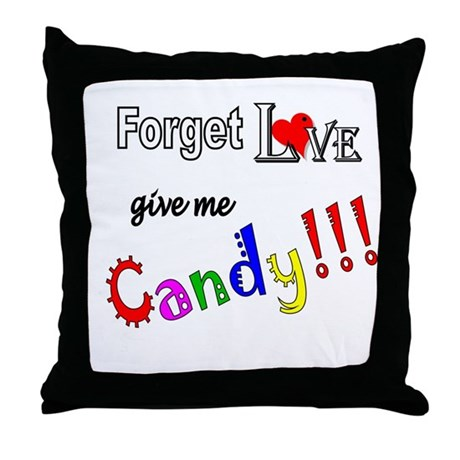 Give Me Candy Throw Pillow