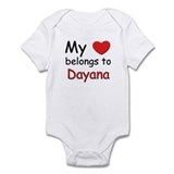 My heart belongs to dayana Onesie