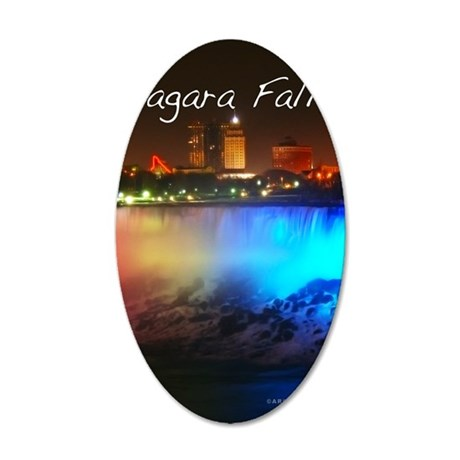 Niagara Falls 35x21 Oval Wall Decal