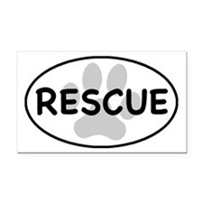 rescue paw-1 Rectangle Car Magnet