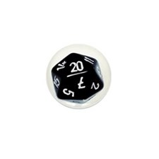 black D20 Mini Button (100 pack)
