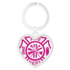 maltese cross1larger Heart Keychain