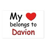 My heart belongs to davion Postcards (Package of 8