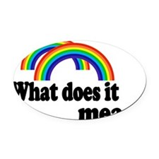 double rainbow Oval Car Magnet