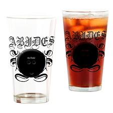 2-ABIDES_Black Drinking Glass