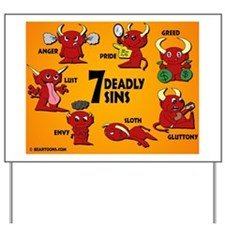 2-7deadlysinssmallposter Yard Sign