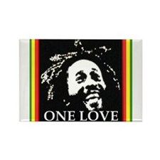 ONE LOVE Rectangle Magnet (100 pack)