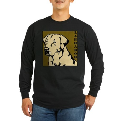 Yellow Military Lab Long Sleeve Dark T-Shirt