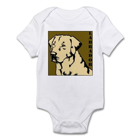 Yellow Military Lab Infant Bodysuit