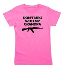 Dont Mess With My Grandpa Girl's Tee