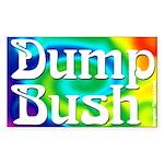 Dump Bush Rectangular Sticker