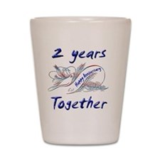 anniversary 2 Shot Glass