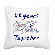 anniversary birds 45 Square Canvas Pillow