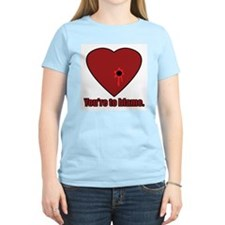 Shot Through the Heart Women's Pink T-Shirt