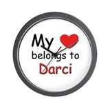 My heart belongs to darci Wall Clock