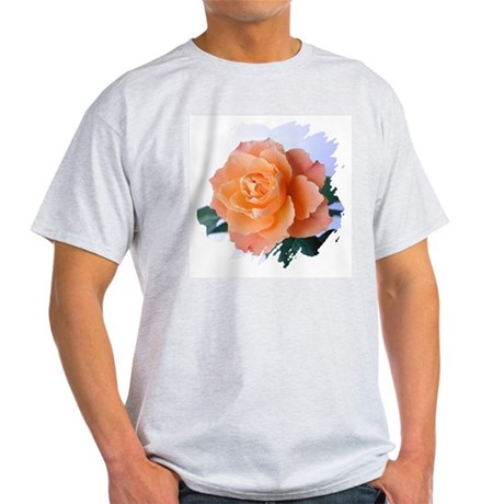 Orange Rose Ash Grey T-Shirt