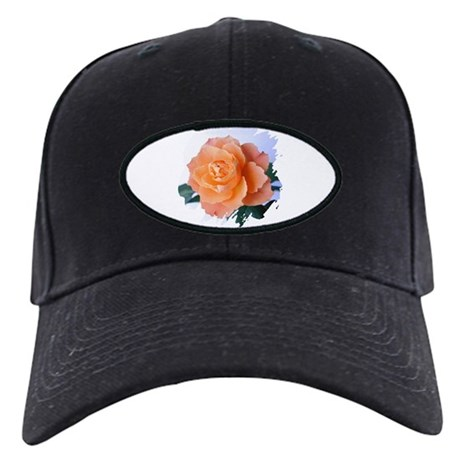 Orange Rose Black Cap