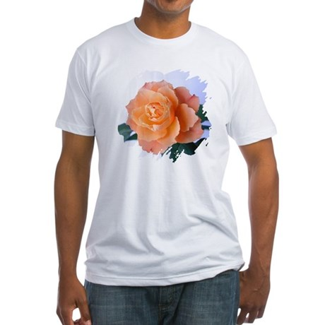 Orange Rose Fitted T-Shirt