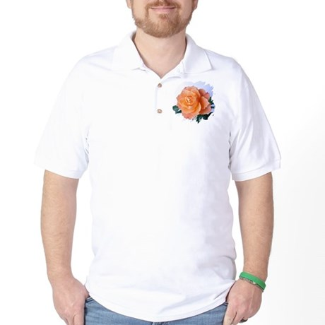Orange Rose Golf Shirt