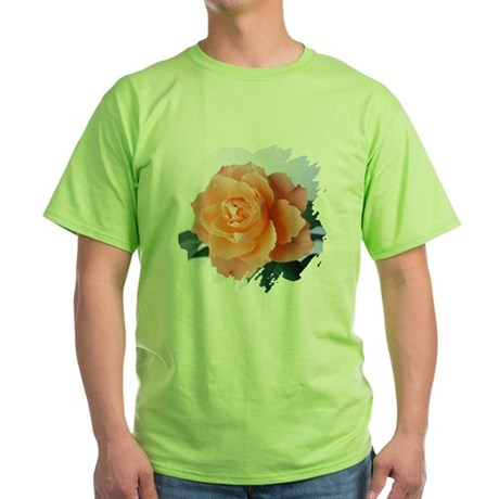 Orange Rose Green T-Shirt