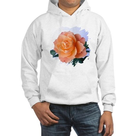 Orange Rose Hooded Sweatshirt