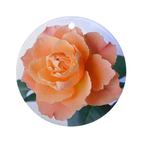 Orange Rose Ornament (Round)