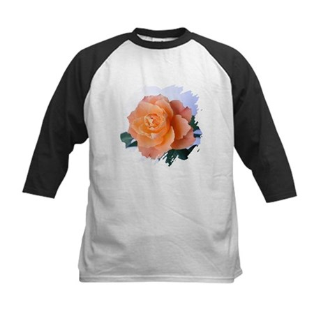 Orange Rose Kids Baseball Jersey