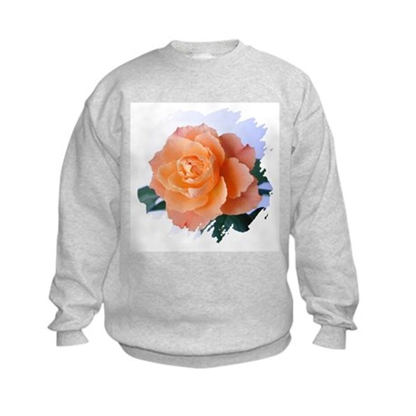 Orange Rose Kids Sweatshirt