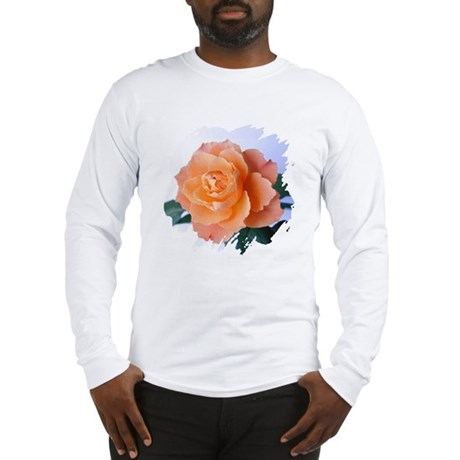 Orange Rose Long Sleeve T-Shirt