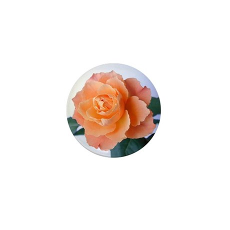 Orange Rose Mini Button (100 pack)